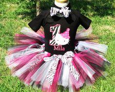 Zebra Hello Kitty Birthday Number Tutu by TutuBellaCoutureLtd, $49.95