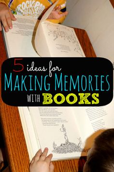 5 Ideas for Making Memories with Books:  I might be letting my inner nerd shine a little when I say that I have SO many awesome memories from my childhood that involve books. My momma did a great job teaching me to not only read, but to love literature. It was not only her dedication and commitment to making sure I could read before...