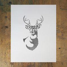 Antlered Deer 11x14 Print by Ed Roth. #Antler #Antlers