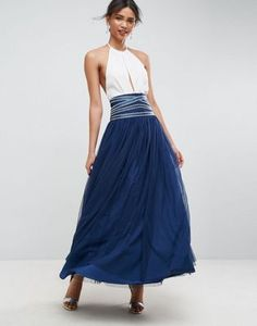 ASOS Maxi Tulle Skirt with Crossover Embellished Waistband