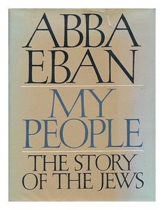 My People, The Story Of The Jews. by Abba. EBAN, http://www.amazon.com/dp/B000ONH8RQ/ref=cm_sw_r_pi_dp_nURZrb11K0YYB