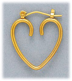 Simply Whispers hypoallergenic and nickel free Jewelry pierced earrings Gold Heart joint & catch