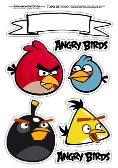 Bolo Angry Birds, Festa Angry Birds, Bird Coloring Pages, Coloring Books, Royal Icing Templates, Bird Cake Toppers, Bird Free, Blue Nose Friends, Kids Pillows