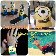 FUN Despicable Me Kids Craft Ideas (toilet paper roll, hats, finger puppets, etc!)