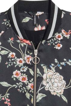 Giacca - Nero/fiori - DONNA | H&M IT