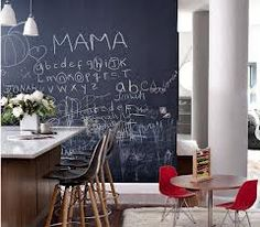 chalkboard+kitchen+walls - Google Search