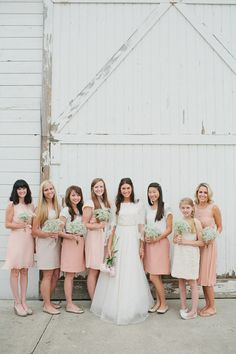 Bridesmaids in blush pink  Photography by stacyjacobsen.com