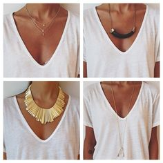 dressing up a white T
