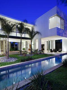 Beautiful exterior and practical lap pool