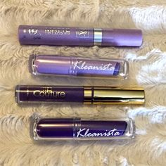 Purple Lavender Matte Lipstick Lot - Trendy La Splash Phantom matte lip cream, ruby kisses wonderland, Kleanista purple machine and cast of spell. None ever used just stored with lipsticks. Popular purple shades.   I offer a 20% off discount on bundles of 2+ items and accept reasonable offers. LA Splash Makeup Lipstick