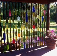 Glass Bottle Wall is a DIY you'll love to try | The WHOot