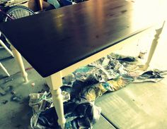 Kitchen Table Makover-- This is what I am going to do... Cant wait!
