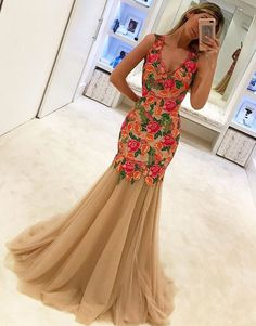 unique sweetheart lace applique tulle long prom dress, lace applique evening dress for teens