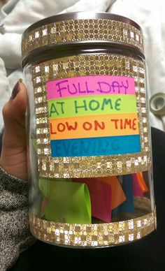 My boyfriend and I made a date jar! It's already helped us to stop being so boring! #datejar #diy