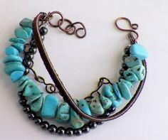 handmade magnesite and hematite multi strand bracelet (700x585)