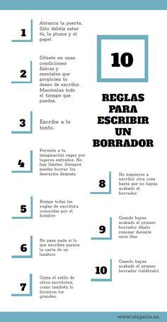 Diez reglas para escribir un borrador