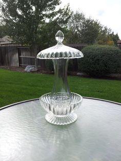 Clear glass hanging bird feeder by SingleMommyMadness on Etsy, $30.00