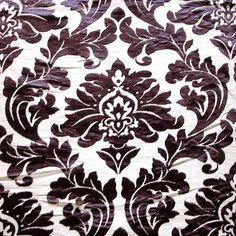 Floral Damask  Burnout Velvet on Fancy Fabric by FabricMart, $10.60