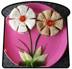flowers sandwich #kids #lunch