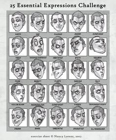 Drawing faces and 25 essential facial expressions not to be missed at the very least just see this stuff.