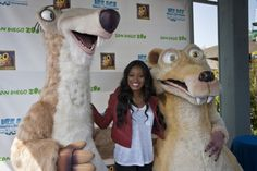 Here's Keke Palmer with Sid and Scrat at the opening of Ice Age: Dawn of the Dinosaurs – The 4-D Experience, now playing at the San Diego Zoo! Don't miss it! http://www.sandiegozoo.org/iceage/