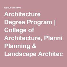 Architecture Degree Program   College of Architecture, Planning & Landscape Architecture