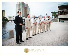 The Westin Tampa Harbour Island, Wedding, Groom and Groomsmen, Ceremony Limelight Photography www.stepintothelimelight.com