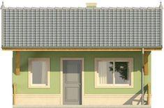 Elewacja KR DOMEK 1 CE 20 M2, Tiny House Design, Garage Doors, Shed, Outdoor Structures, Outdoor Decor, Home Decor, Decoration Home, Room Decor