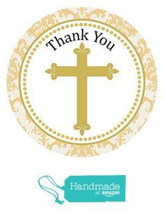 Cross Stickers in Gold Tone - Christening Baptism Holy Communion Party Favor Labels - Set of 30 from Adore By Nat https://www.amazon.com/dp/B01K11IF9A/ref=hnd_sw_r_pi_dp_zE6Byb5GGCJ93 #handmadeatamazon