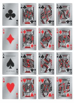 Precision crafted metal playing cards. Available in 3 finishes Copper, Stainless Steel, and Paper with a magic finish.