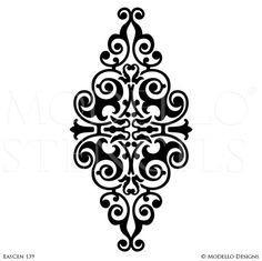 Medallion Stencils – Page 2 – Modello® Designs Calligraphy Letters Alphabet, Islamic Art Calligraphy, Custom Stencils, Stencil Designs, Diy Furniture Appliques, Pebble Art Family, Ornament Drawing, Lace Background, Artwork Images
