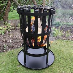 Quality garden decorative items, garden ornaments and bird boxes to add character to your garden from Presents for Men. Wood Fire Pit, Steel Fire Pit, Wood Burning Fire Pit, Fire Pit Wayfair, Cast Iron Fire Pit, Wood Charcoal, Fire Basket, Bbq Gifts, Presents For Men