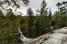 How to Hike to the Crashed Bomber Plane in Tofino, BC – Let's Go Left Tofino Bc, Bomber Plane, Canada Travel, British Columbia, World War Ii, Hiking, World War Two, Walks, Canada Destinations