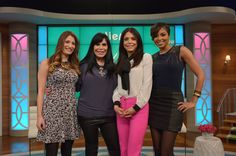 Alicia Quarles Photos - Bethenny Frankel (3L) hosts Kandi Burruss (not pictured), Renee Graziano (2L), Alicia Quarles (R) and Dr. Travis Stork (not pictured) at CBS Broadcast Center January 21, 2014 in New York City. The show will air January 22. - Bethenny Frankel Chats with Her Guests