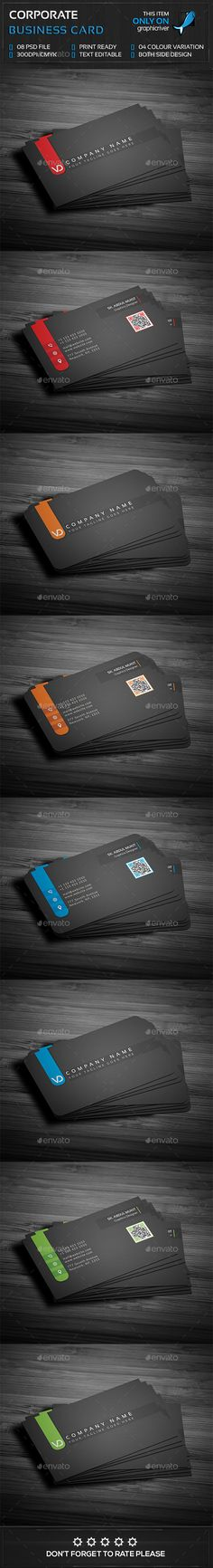 Corporate Business Card Template PSD #design Download: http://graphicriver.net/item/corporate-business-card/14400338?ref=ksioks