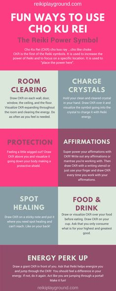 Fun Ways to Use Cho Ku Rei Cho Ku Rei Reiki power symbol CKR Reiki infographic