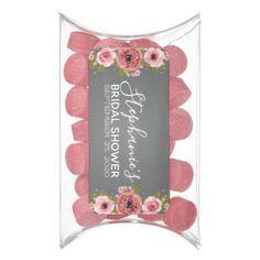 Watercolor Flowers Bridal Shower Favor Gum - blush pink gifts unique special diy custom #BridalShowerFavors