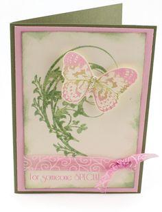 MT363 Distress Flourish Butterfly Card