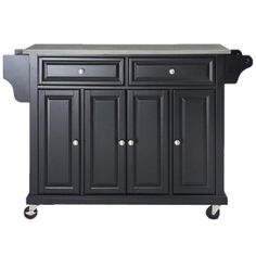 Crosby Kitchen Island | This would be awesome! Portable photos and it can be stored in the pantry.