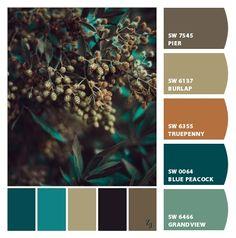 Paint colors from ColorSnap by Sherwin-Williams Copper Colour Palette, Scheme Color, Paint Color Schemes, Room Paint Colors, Color Palate, Paint Colors For Home, House Colors, Color Combos, Color Style