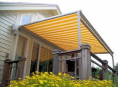 pergola awning attached to home