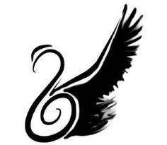 Black Swan Wing Tattoo