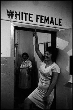 'White Female' in Black in White America by Leonard Freed #Magnum