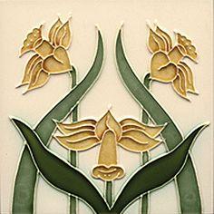tile (daffodils)