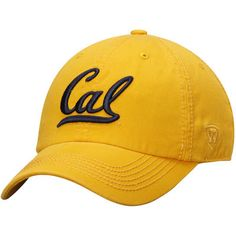 uk availability 41c8d 3eee5 Men s Top of the World Gold Cal Bears Solid Crew Adjustable Hat Team Gear,  California