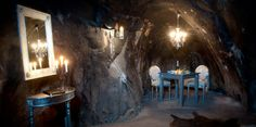 The world's deepest hotel room is located 155 meters [500 feet] beneath the surface of the earth, inside an old mine in Vastmanland County, Sweden.
