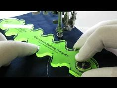 Baptist Fan Longarm Template Demo on a Sewing Machine - YouTube