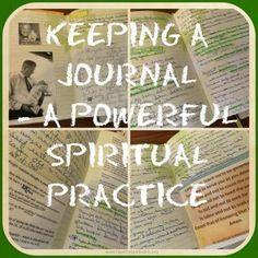 Keeping A Journal – A Spiritual Practice
