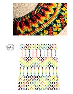 Дыхание Бисера's photos Diy Necklace Patterns, Bead Loom Patterns, Beaded Jewelry Patterns, Beading Patterns, Beaded Crafts, Beaded Collar, Bead Jewellery, Stitching Leather, Bead Crochet