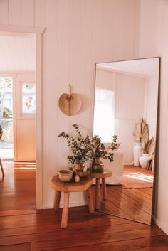 Solange leaning mirror – Salt x Steel Living Room Sets, Living Room Decor, Bedroom Decor, Bedroom Mirrors, Cozy Bedroom, Living Room With Mirror, Dream Bedroom, Design Bedroom, Dining Room